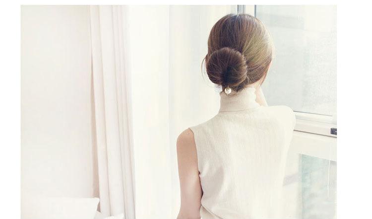 新款韩版小珍珠带钩盘发器图片