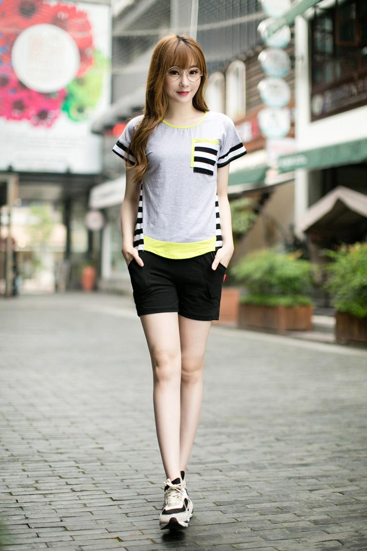 【夏季新款女士休闲短裤】-衣服-裤子