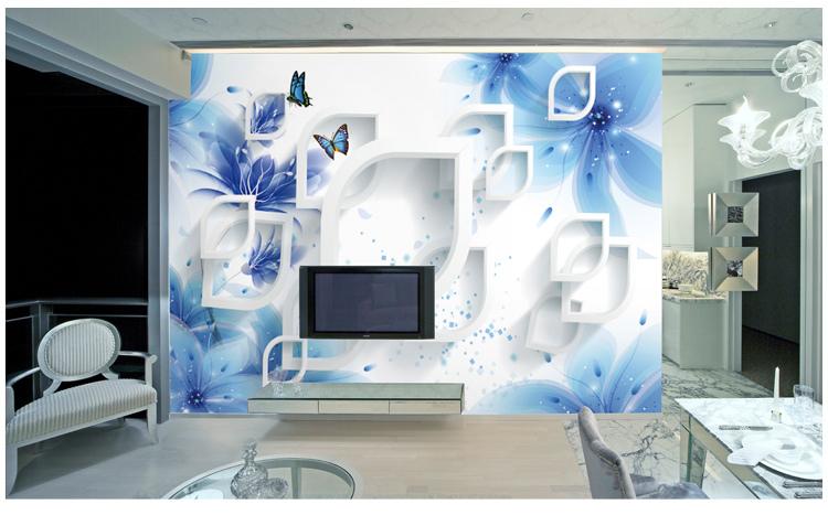 欧式3d立体玫瑰无纺布墙纸壁画无缝墙布自粘影视墙