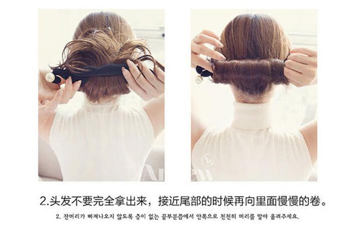 韩国升级版珍珠花苞头盘发器图片