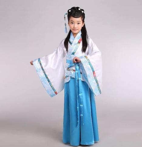 【儿童古装小七仙女公主裙古筝唐装汉服】-无类目