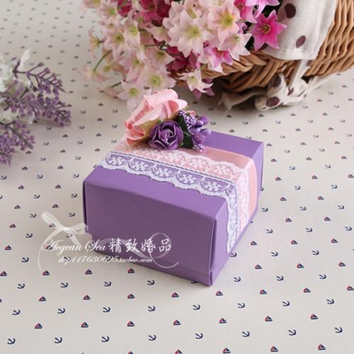【紫色恋语】 婚礼喜糖盒