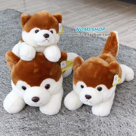 韩国正品可爱仿真呆萌趴趴小狗公仔毛绒玩具娃娃儿童