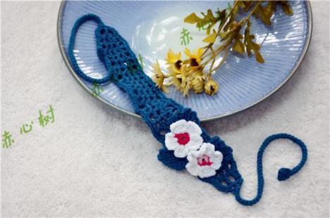 全新纯手工钩织蕾丝线发带发箍亲子发带 格子款发带