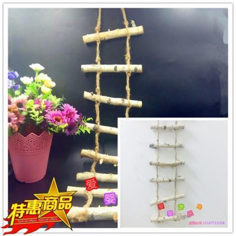 幼儿园墙壁装饰农家乐原生态大自然吊饰手工花藤原木