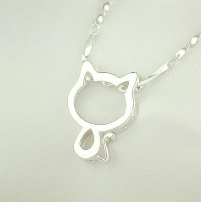 【925纯银项链 可爱招财猫咪】-无类目--马哥原创
