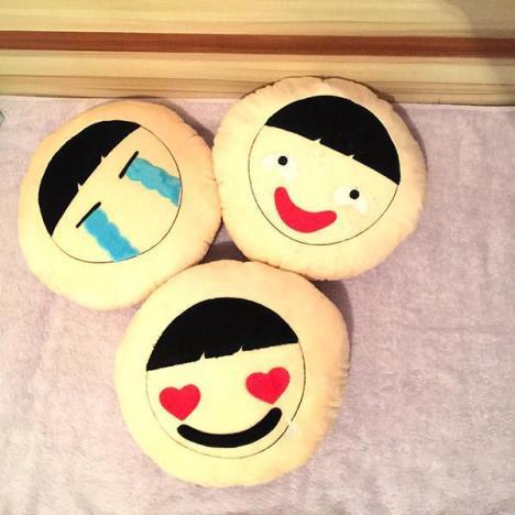 韩国ulzzang童趣可爱表情软绵绵抱枕靠垫坐垫超柔软创意抱枕枕头
