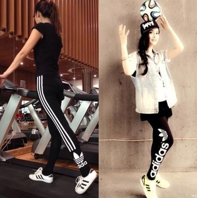 秋款运动打底裤收脚长裤休闲紧身裤范冰冰同款跑步健身裤瑜伽裤