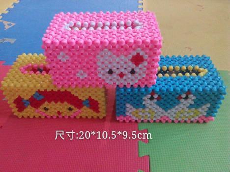 【diy手工串珠纸巾盒】-无类目--茹薏坊-蘑菇街优店