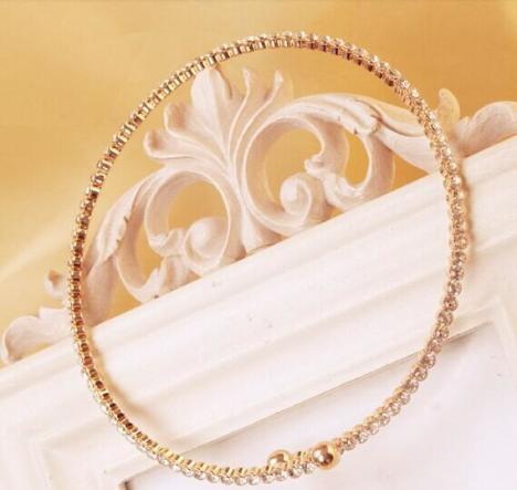 【韩国饰品时尚镶钻金属项链项圈】-无类目--时尚