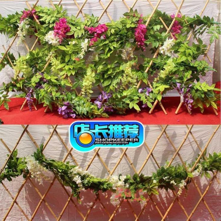 高档仿真花藤条壁挂欧式家居客厅装饰空调管道装饰蔓