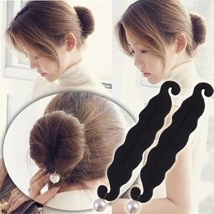 韩版升级版百搭珍珠盘发器丸子头花苞头盘发器图片