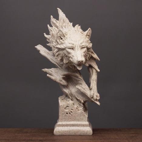 【创意摆件狼雕塑模型动物摆设办公】-无类目--悦汇