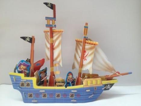 3d泡沫板立体拼图 立体拼图 diy立体手工制作拼图 海盗船