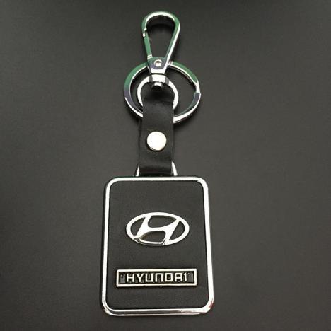 现代真皮车标钥匙扣 现代朗动 悦动 全新胜达名图 索纳塔八钥匙链
