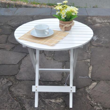 【实木圆桌,沙发边桌,能折叠,质】-无类目--楠竹艺居