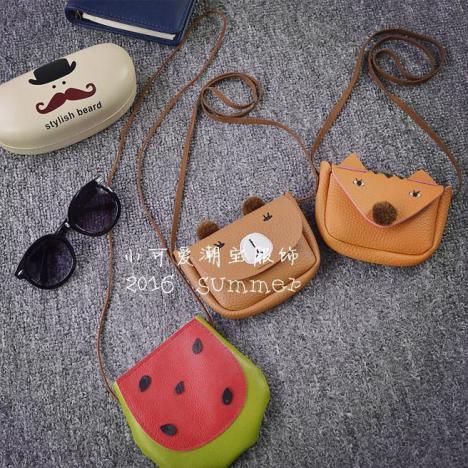 赠品2016夏款儿童宝宝森林小动物可爱饰品包包 皮革小包