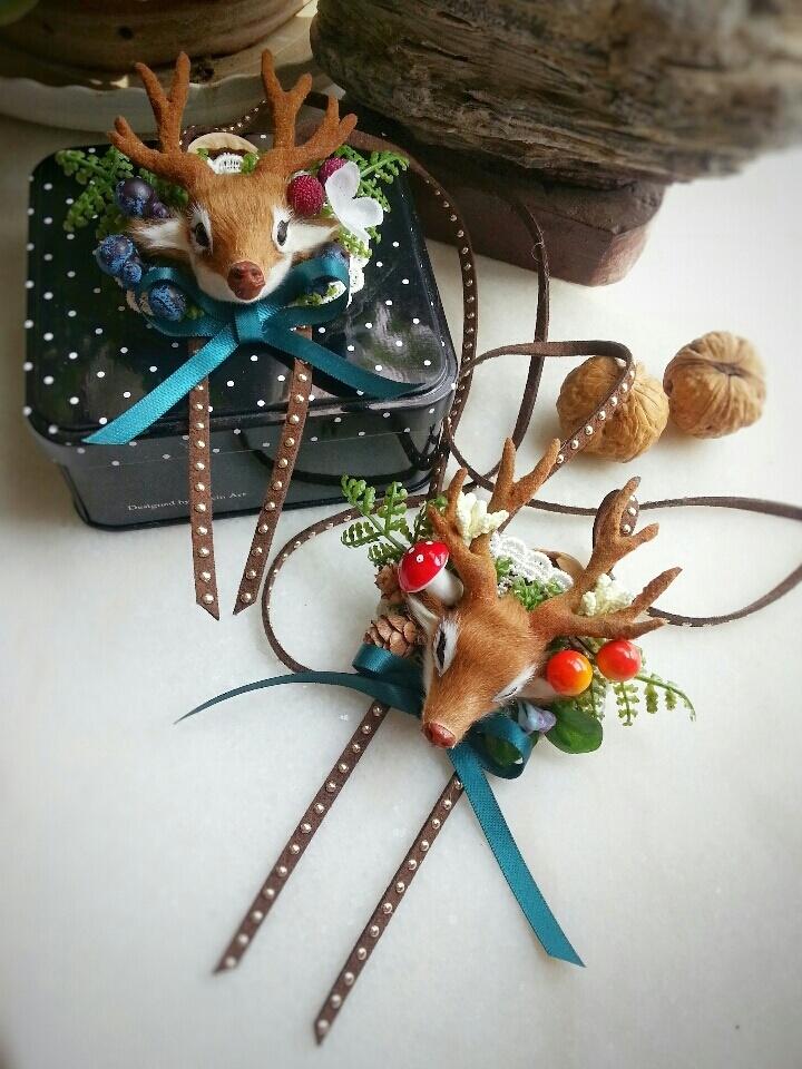 小鹿头饰手工制作图片
