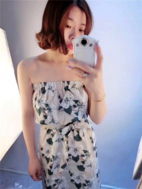 【印花抹胸连衣裙】-无类目--日系韩风欧美风-蘑菇街
