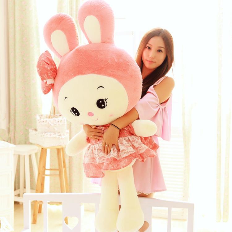 【可爱公主兔公仔粉色兔子毛绒玩具】-母婴-母婴用品