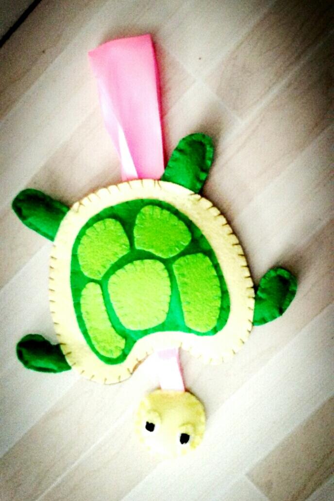 不织布,纯手工制作!小乌龟!
