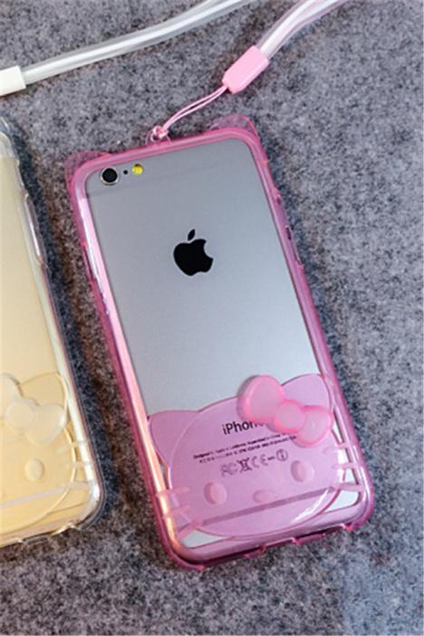 【iphone5/5s手机壳 6plus透明边框】-配饰-3c数码