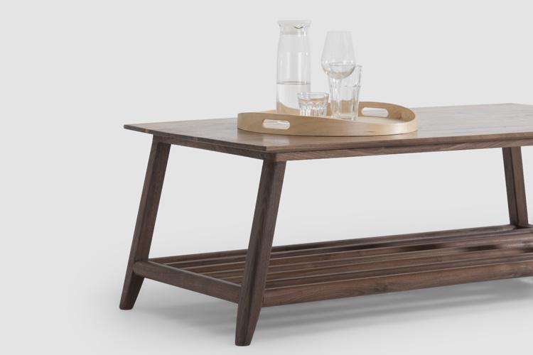 物应 现代简约 实木家具 黑胡桃木 方形茶几 茶桌