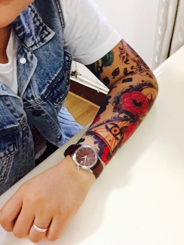 纹身花臂花旦图案分享展示