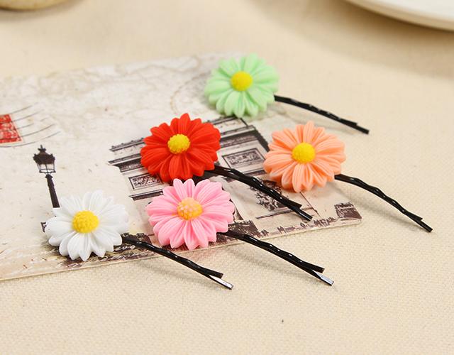 【4件套】日系小雏菊发圈发夹