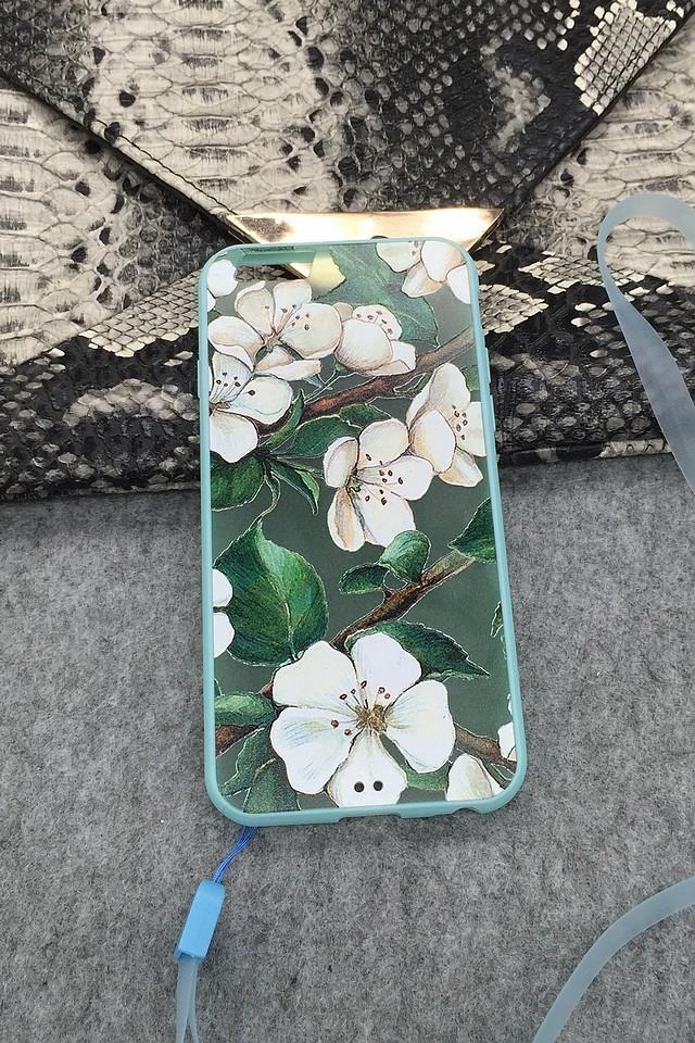 【小清新碎花 iphone6/6p全包边框挂绳手机壳】-配