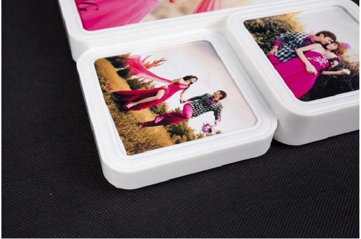 【欧式复古婚纱照结婚照相片框韩国摆台abs田园相框