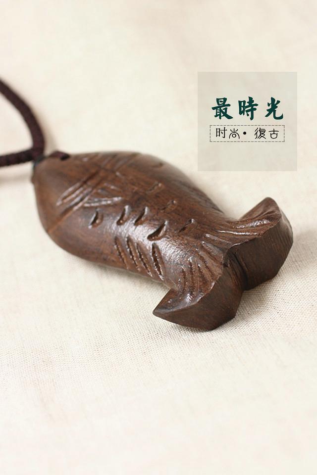 手工木质鱼项链】-配饰-配饰