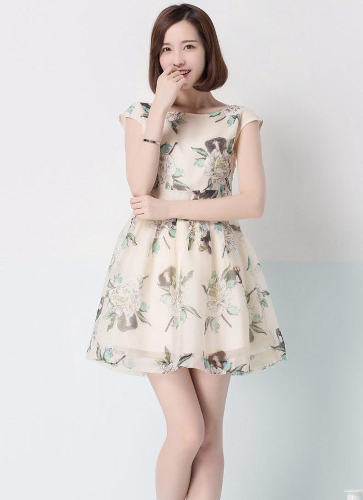 连身裙雪纺