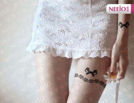 腿部丝袜纹身贴 时尚纹身贴 夜店潮品 丝袜身体彩绘 身体纹身图片