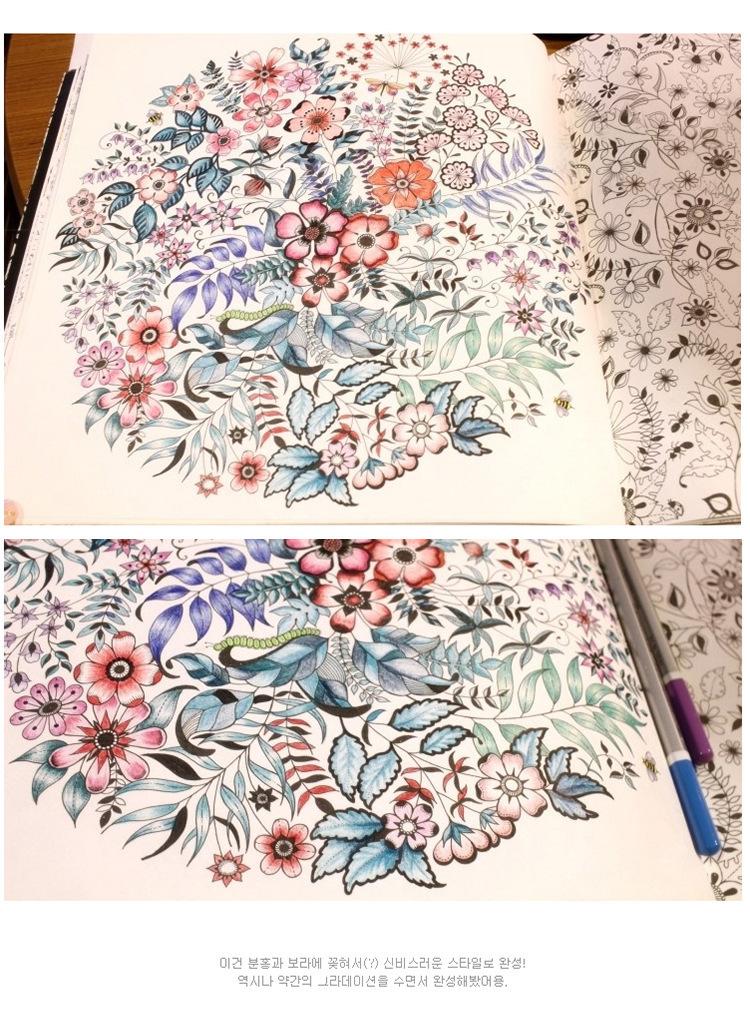 秘密花园 全手绘减压填色本