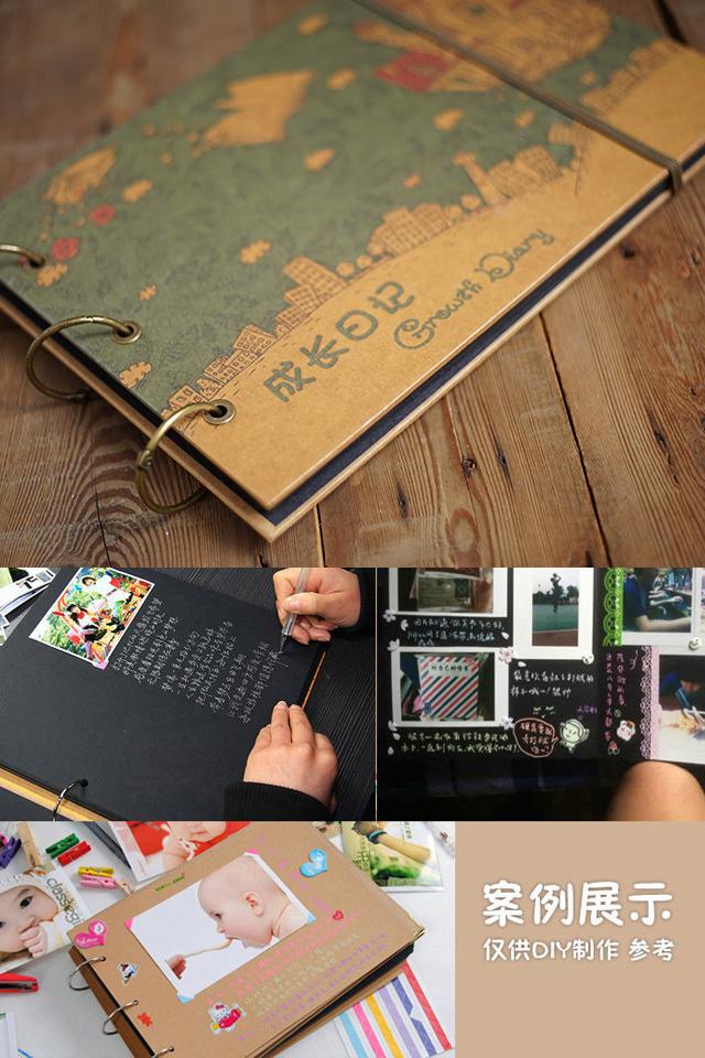 儿童成长相册diy边框装饰图片