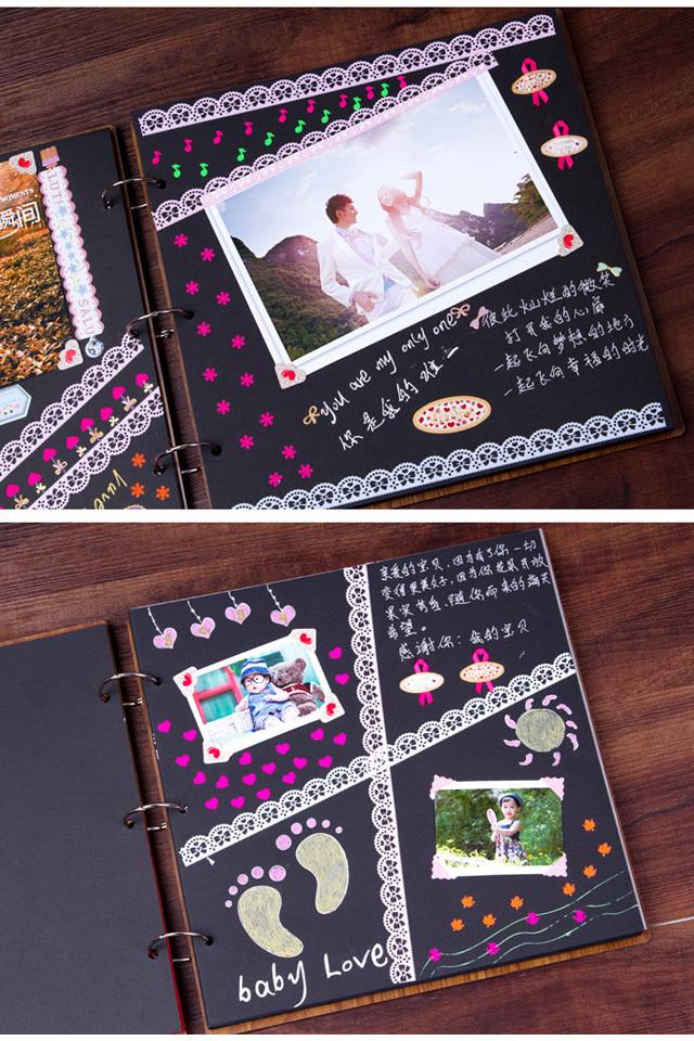 diy相册黑卡手绘图爱情语言