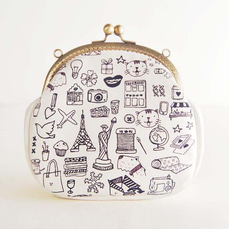【创意手工简笔画涂鸦复古小包包】-衣服-女包