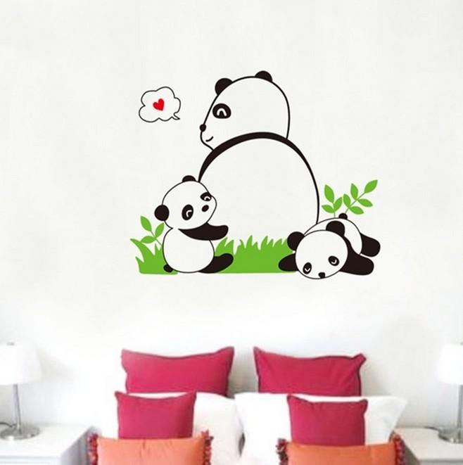 幼儿园熊猫画画分享展示图片