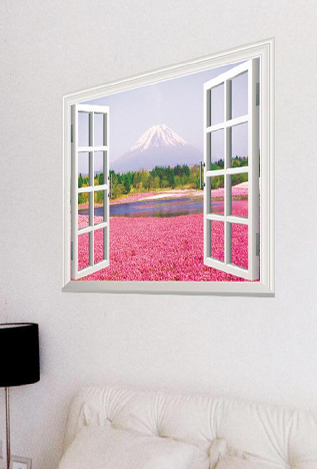 新款 假窗户风景墙贴画 多款选择