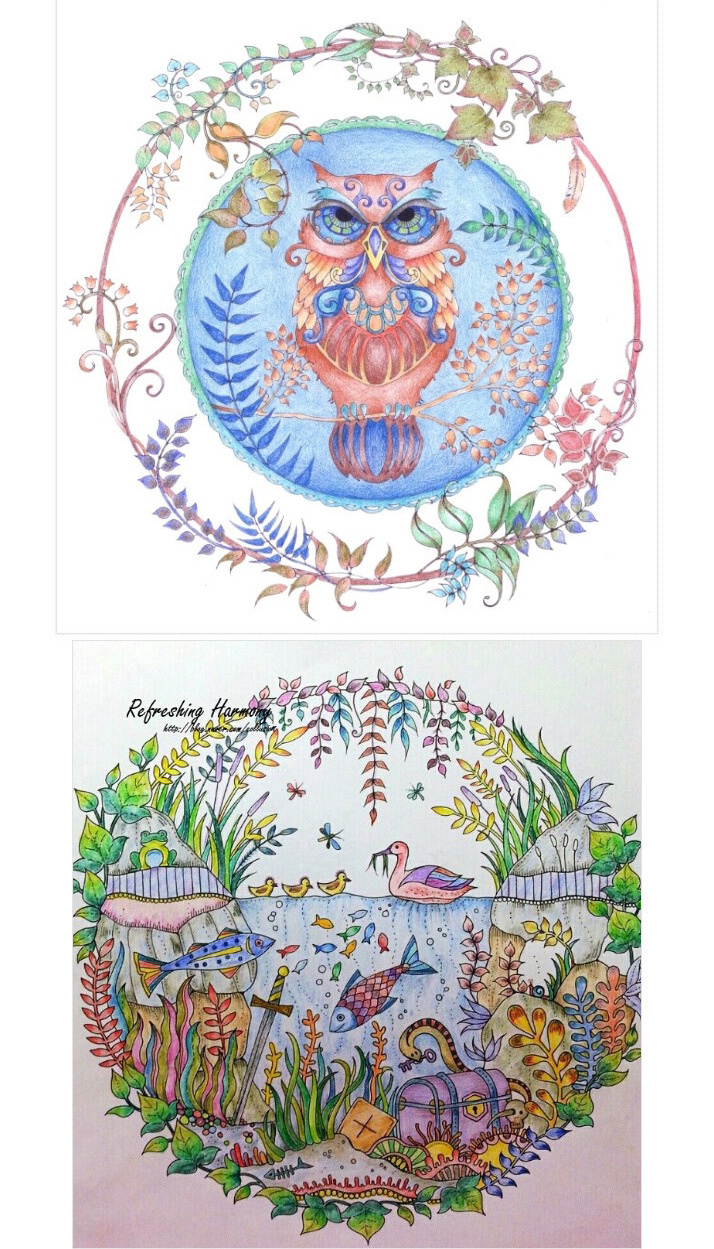 彩铅手绘图童话复杂
