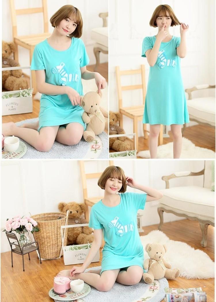 【【4个颜色】韩国斑马少女睡裙】-无类目-女士内衣