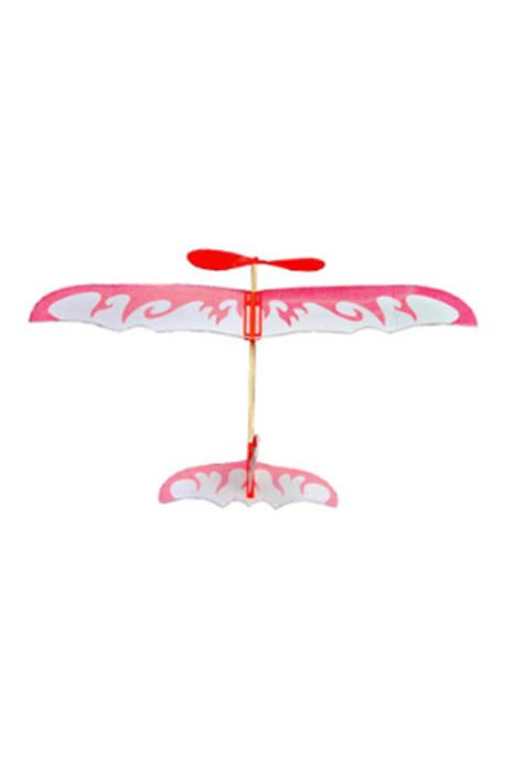 【雷鸟橡皮筋动力 diy拼装双翼滑翔飞机】-null-母婴
