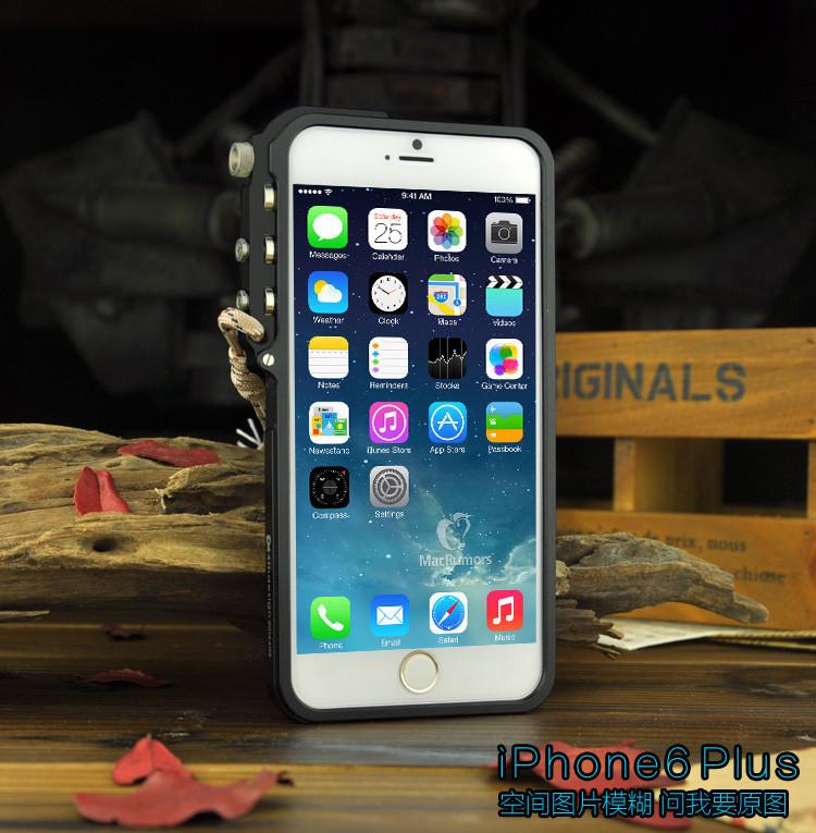 苹果6手机壳金属边框机械手臂iphone6plus保护套潮男