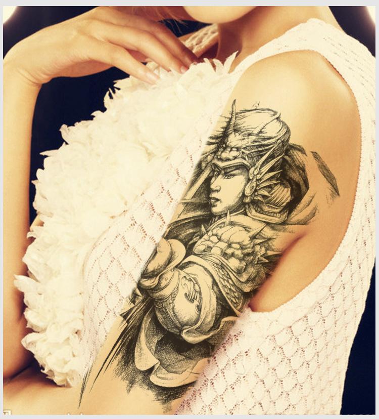 纹身图案男 半臂赵云分享展示图片