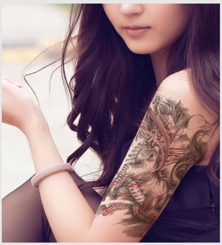 火焰麒麟纹身图案分享展示