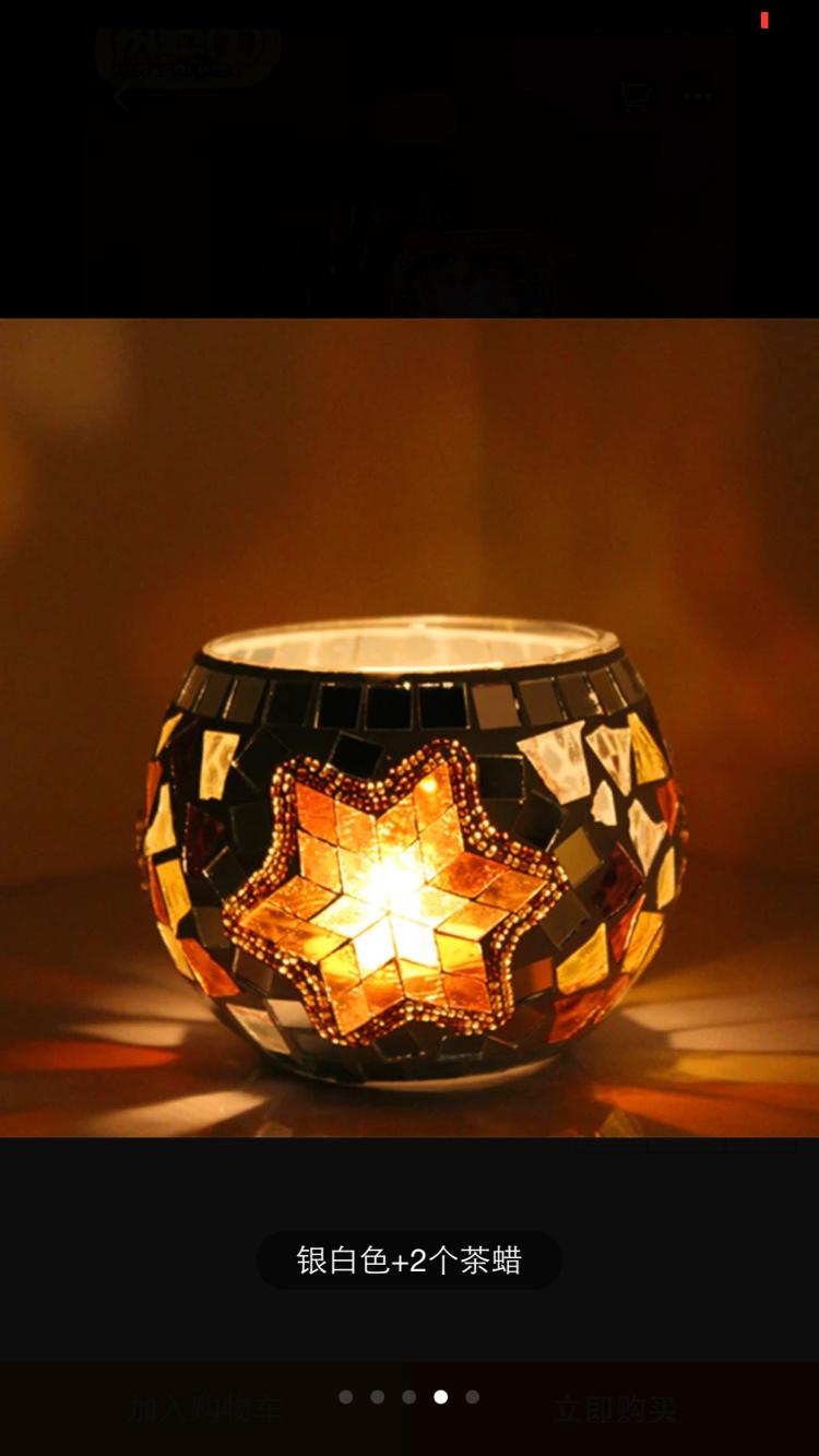 烛台欧式复古 浪漫烛光晚餐婚庆创意礼物玻璃蜡烛台摆件 家居饰品