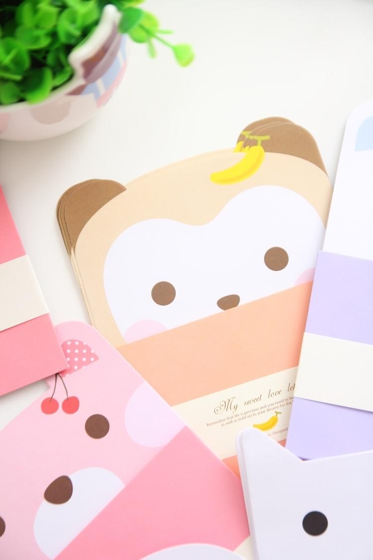 简单生活韩国动物信纸信封套装