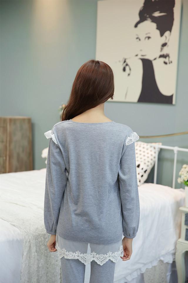 【韩版小清新花边公主纯棉睡衣套装】-内衣-女士内衣