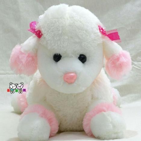 新款牧羊犬毛绒玩具 可爱狗狗公仔 贵宾犬玩偶 爆款趴趴狗毛绒娃娃